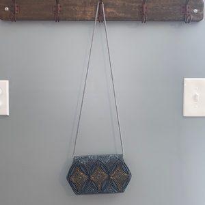 Blue beaded small purse
